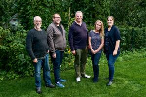 Der am 18. August 2021 gewählte Trittauer SPD-Vorstand (v.l.n.r.): Bernd Marzi (Beisitzer), Philipp Billep (Schatzmeister), Thies Grothe (Vorsitzender), Regina Brüggemann